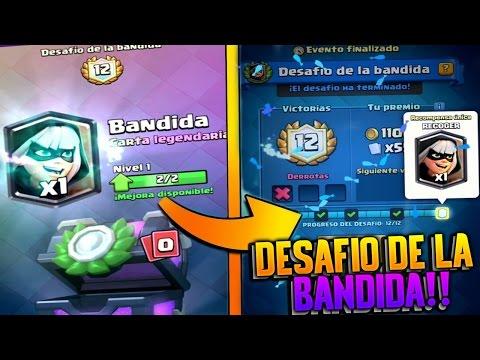 CONSIGO 2 BANDIDAS en 1 DESAFIO de la BANDIDA en DIRECTO!! | Clash Royale | Rubinho vlc
