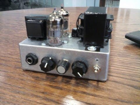 Pequeno Amplificador Guitarra Single Ended 12ax7 X2