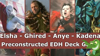 Elsha vs Ghired vs Anje vs Kadena Preconstructed EDH / CMDR Deck Game #MTGC19
