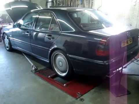dyno pull mercedes c43 amg c55 with swapped 5 4 m113 engine from an e55 amg youtube. Black Bedroom Furniture Sets. Home Design Ideas