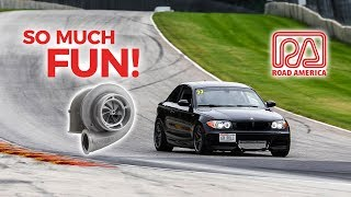 Racing my Single Turbo BMW 135i at ROAD AMERICA!