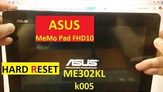 Сброс графического ключа ASUS ME302KL k005 Factory Hard reset Asus MeMO Pad FHD 10