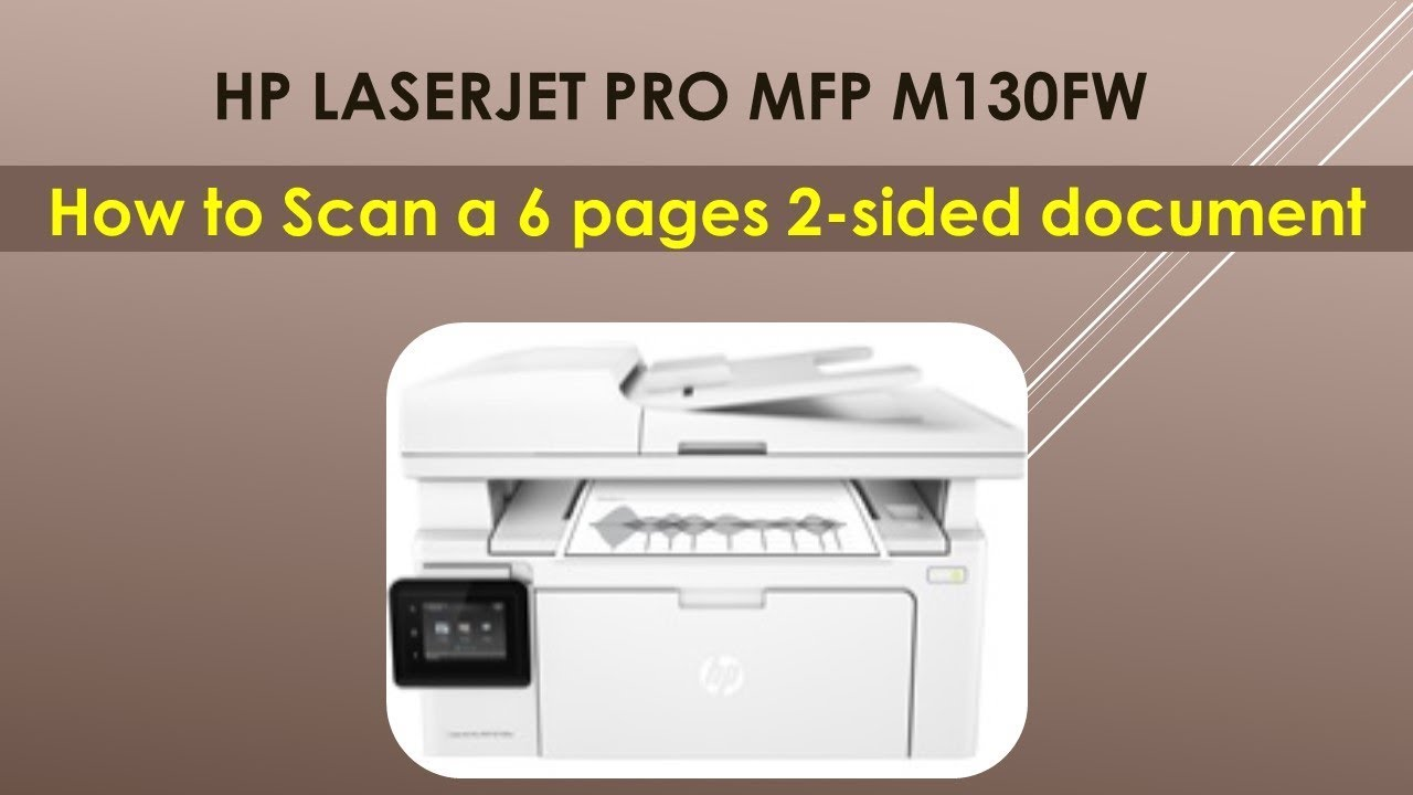 HP LaserJet Pro MFP M130fw : How to Scan a 2 sided document & save as PDF