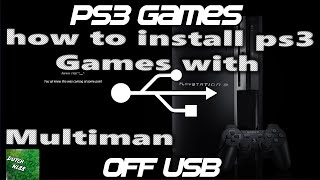 How to Copy Games To Ps3 From USB or DISK *(CFW MULTIMAN TUTORIAL)*  Simple And Easy Voice Tutorial