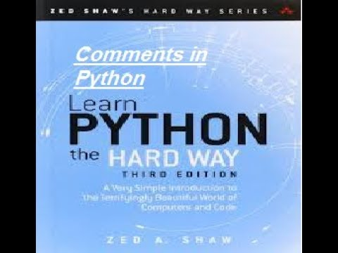 Comments in Python programming python Journey