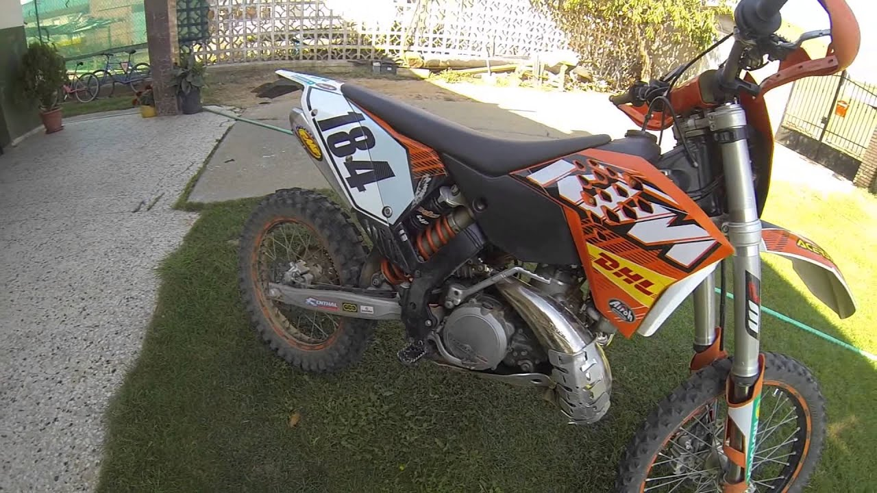 ktm 300 exc fmf exhaust gnarly & power-core2 - youtube