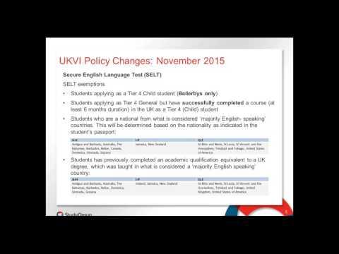 Study Group update training regarding November UKVI policy changes