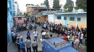 وقفةٌ تضامنيةٌ مناهضة لمسيرة المستوطنين في مخيّم البص  #موقع_البص  WWW.ALBUSS.NET