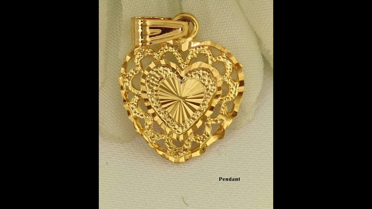 pendant the fish gold design