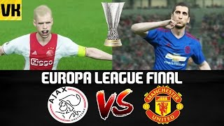 PES 2017 EUROPA LEAGUE FINAL: MANCHESTER UNITED VS AJAX (Who will win?)