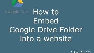 How to Embed Google Drive Folder into a Website or Blog