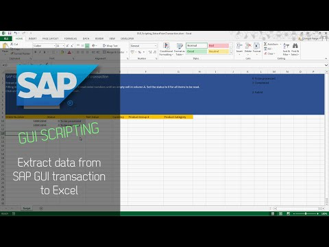 SAP GUI Scripting - Extract Data from SAP GUI Transaction to Excel