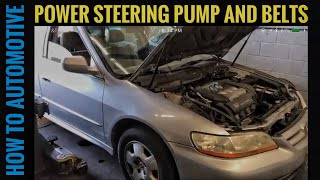 How to Replace the Power Steering Pump and Belts on a 1998-2002 Honda Accord with 3.0L