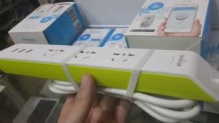 Ổ cắm Wifi Broadlink MP2 điều khiển tắt mở, hẹn giờ qua điện thoại