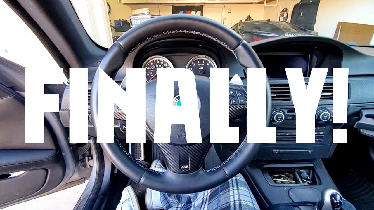 BMW E92 M3 DCT Steering Wheel Install DIY