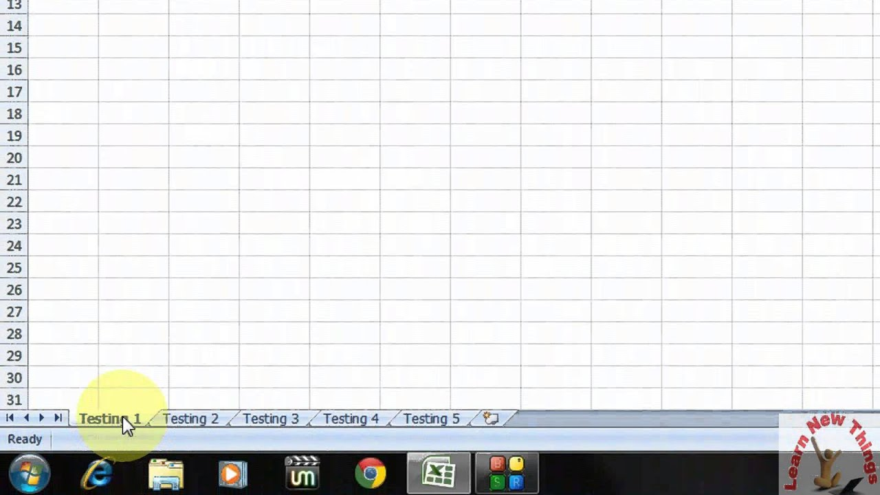 Shortcut To Move Between Tabs In Excel Sheet