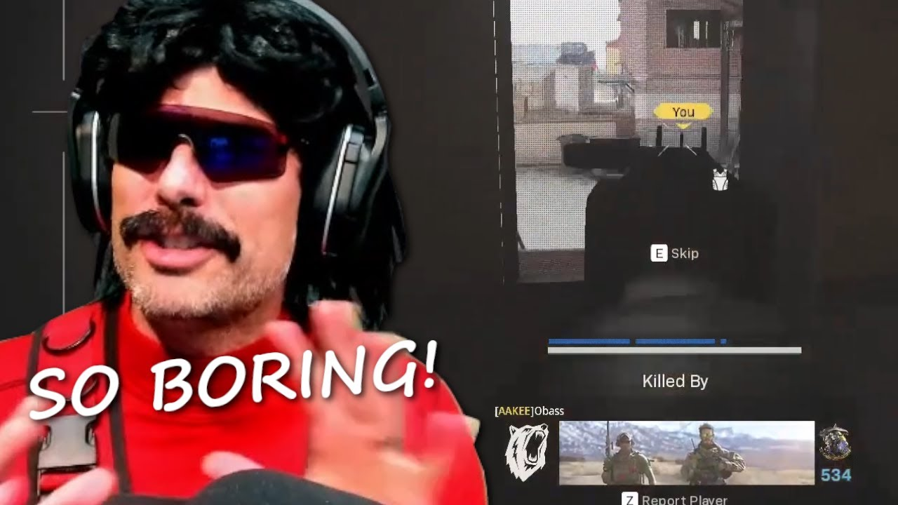 DrDisrespect's SO TIRED of MAC 10 META in Warzone