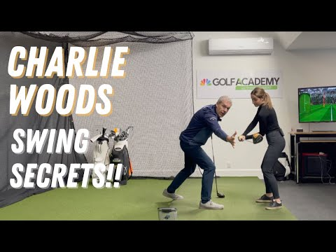 CHARLIE WOODS' AWESOME GOLF SWING TECHNIQUE! BETTER THAN WE EXPECTED!
