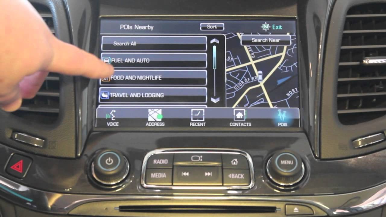 how to operate the navigation system on the chevy mylink radio impala corvette silverado youtube [ 1280 x 720 Pixel ]