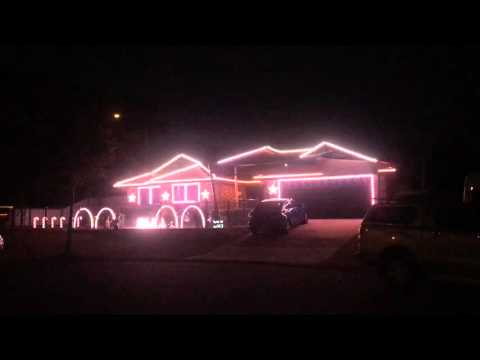 Synchronized Disco Christmas Lights