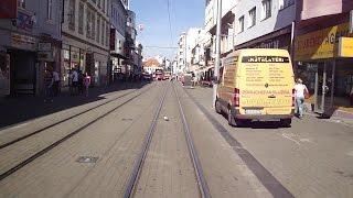Tram line [1] - tram ForCity, cabview, Bratislava, Slovakia