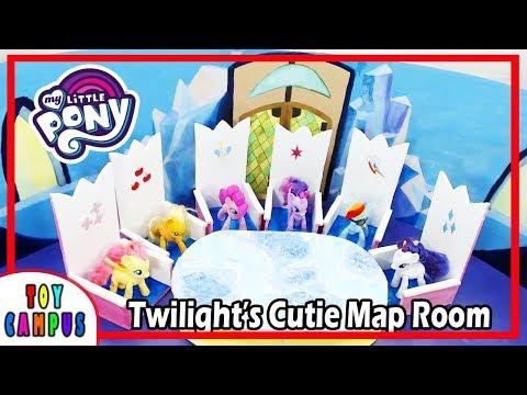 Cutie Map Room In Twilight Sparkle's Castle DIY My Little Pony Rainbow Dash Rarity Fluttershy