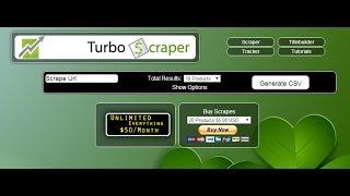 Turbo Scraper - Video 2 - Scrape Amazon Items And Put Into Turbo Lister