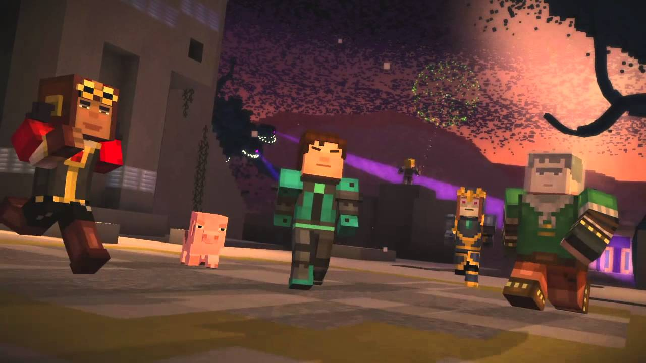 Minecraft Story Mode Wither Storm Battle Youtube