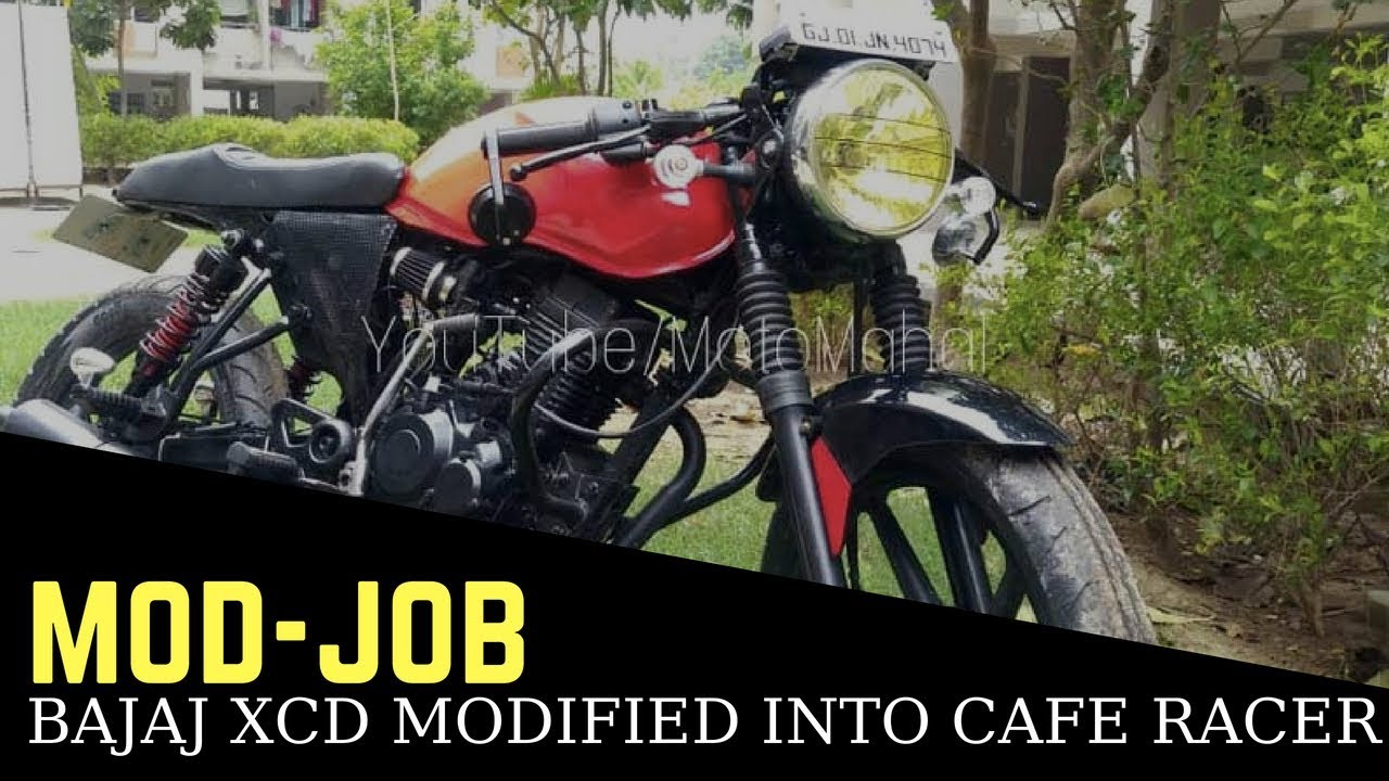 Bajaj Xcd 125 Modified Into A Cafe Racer Youtube