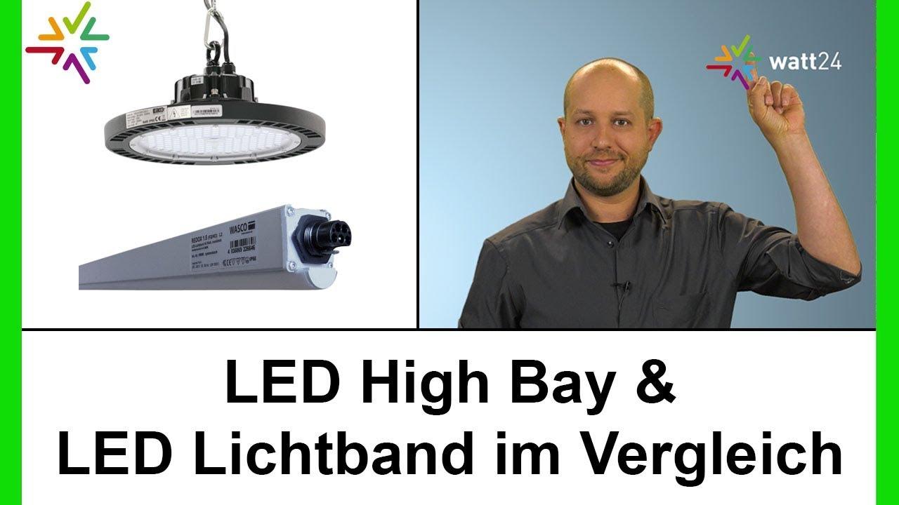 Vergleich zwischen LED High Bay & LED Lichtband