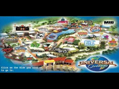 Universal Studious Orlando - Interactive Map.
