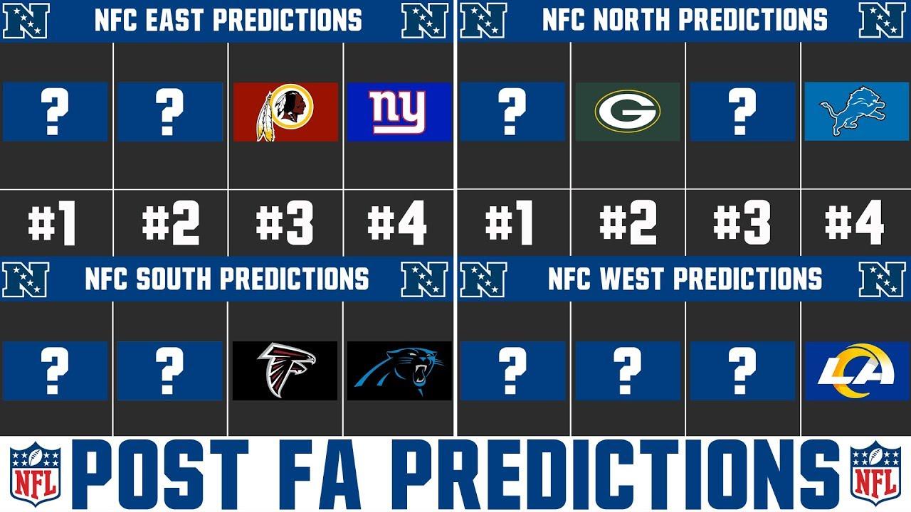 2020 Nfl Season Predictions Post Free Agency Division By Division Nfl Predictions Nfc Youtube