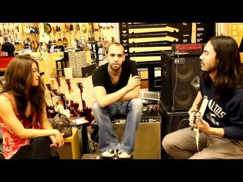 Josh Moreau and Cocoa Kat at Norman's Rare Guitars