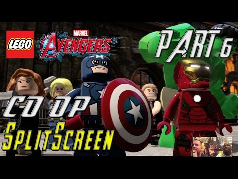 Lego Marvel Avengers - Co-op Splitscreen - Part 6 - Avengers Assemble!