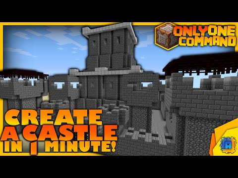 Generate a Castle with only one command block! | Minecraft Castle Generator