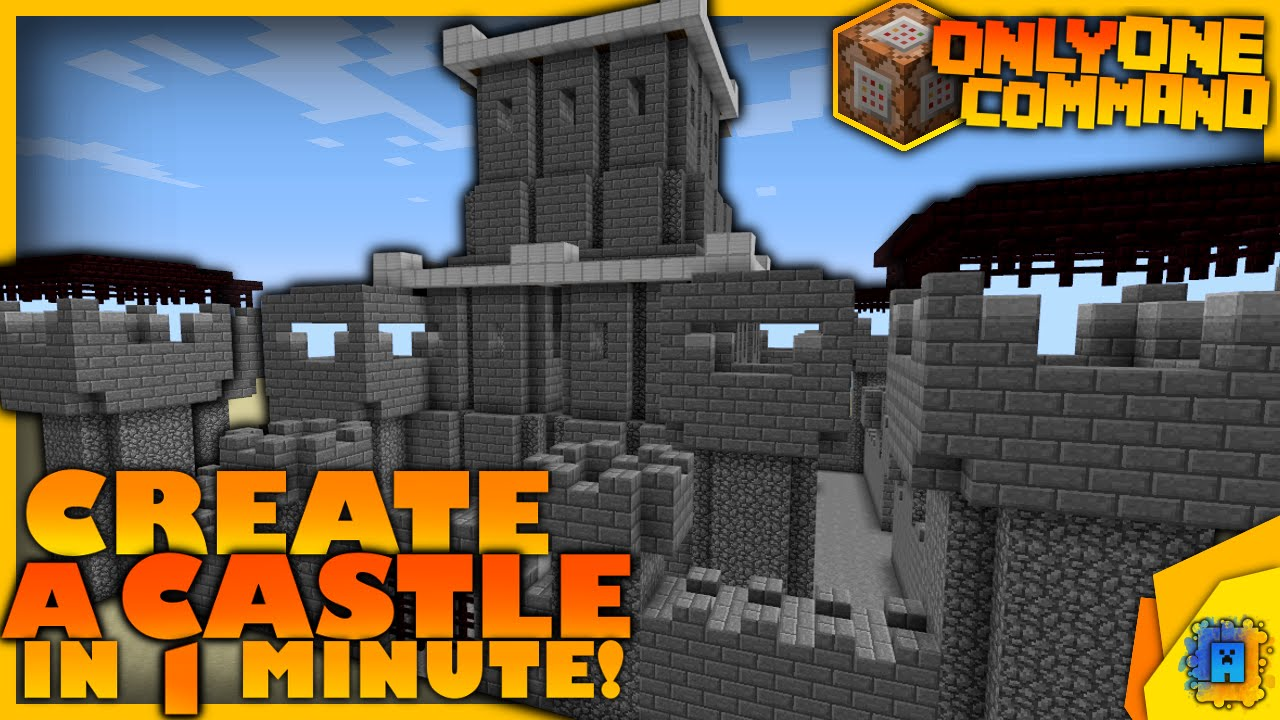 Generate A Castle With Only One Command Block Minecraft Castle - Minecraft haus bauen mit command block