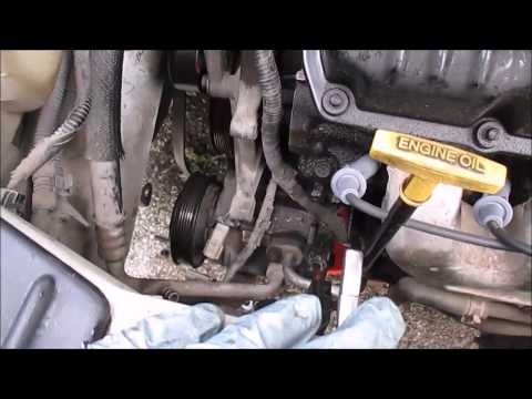 How To Replace An AC Compressor Dodge Caravan Part 1 Removal