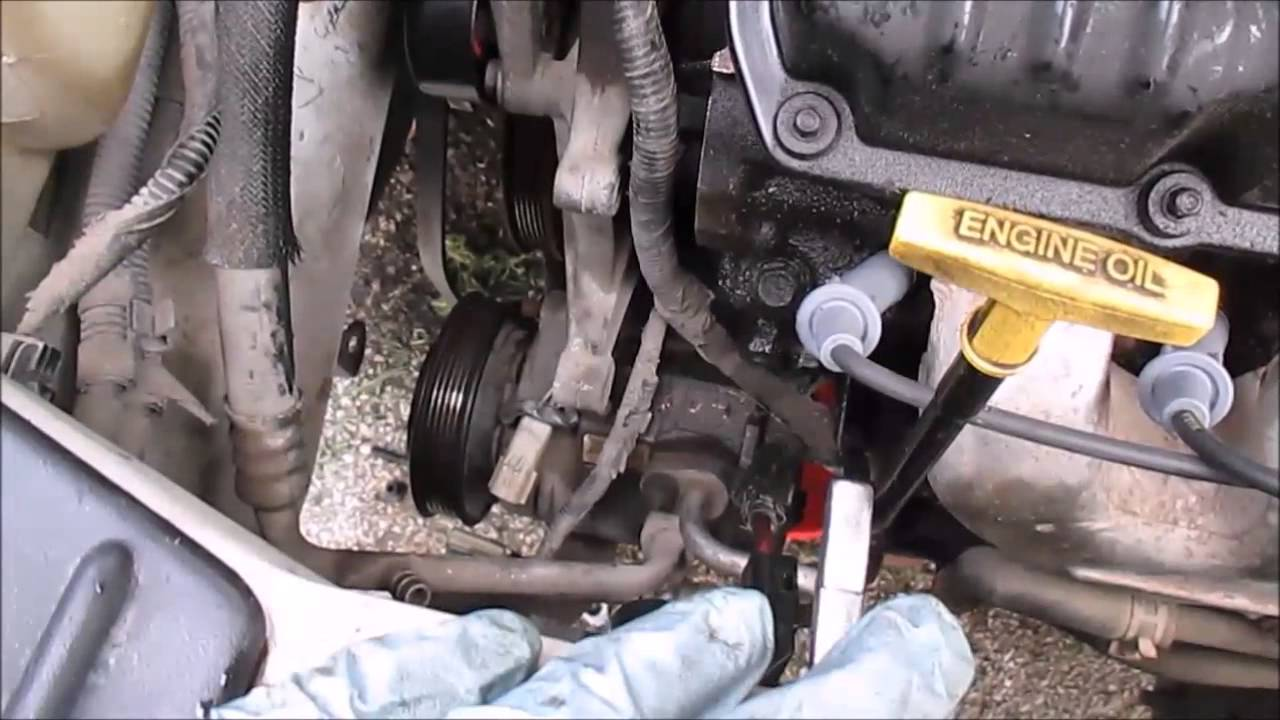 How To Replace An AC Compressor Dodge Caravan Part 1