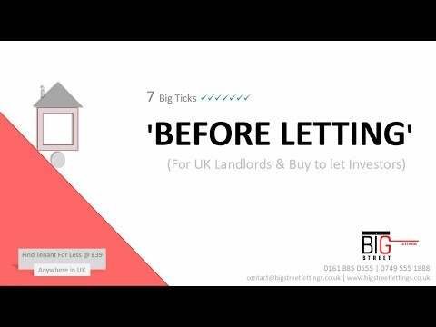 'Before Letting Guide' - For All Landlords and UK Investors
