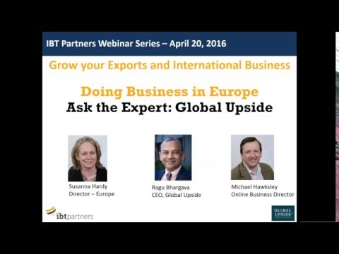 Webinar: Growing your presence in Europe