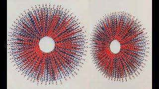 DIY: 4th of July Paper Straw Starburst Wreath