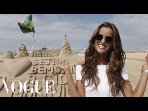 Victorias Secret Model Izabel Goularts Rio Walking Tour | Vogue