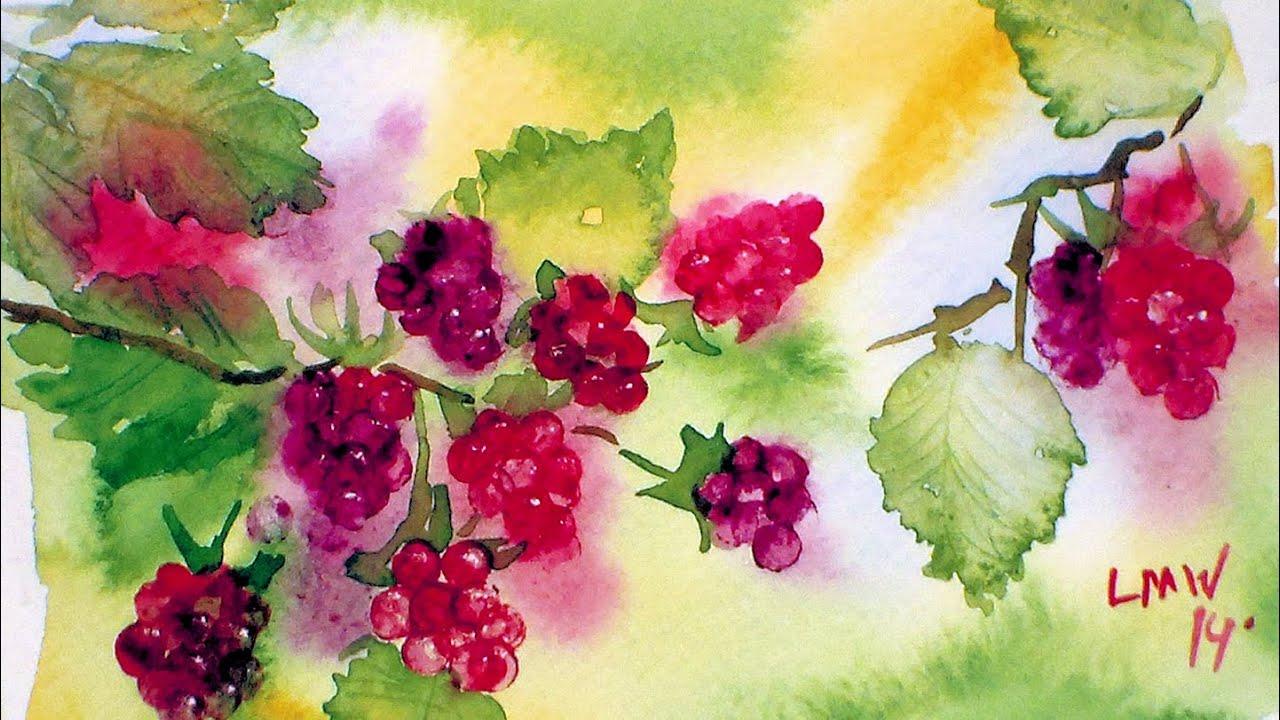 Painting Using Raspberries
