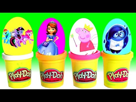 Play Doh Surprise My Little Pony Peppa Pig Disney Inside Out Princess Sofia The First Dough Surprise