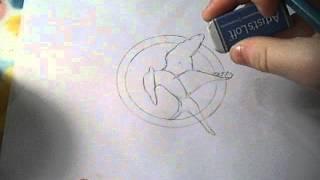 How to Draw the Mockingjay Badge