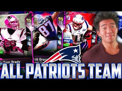 ALL TIME NEW ENGLAND PATRIOTS TEAM BUILDER! BRADY, GRONK, MOSS! Madden 19 Ultimate Team