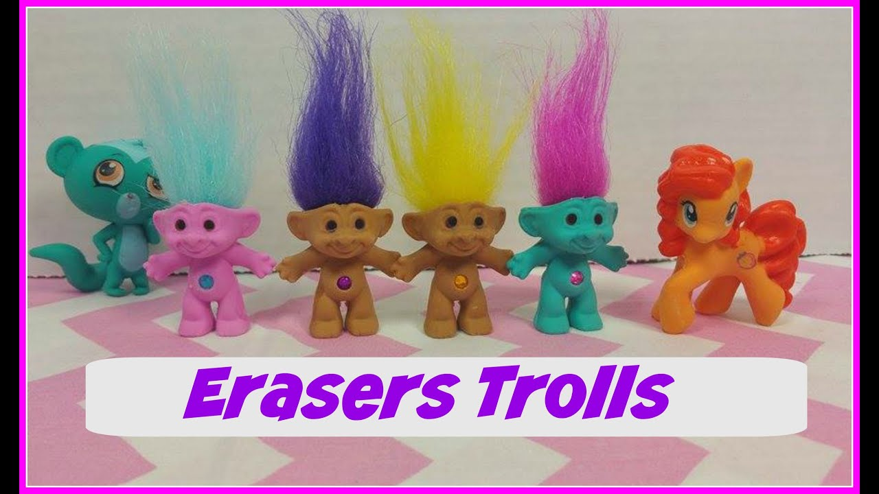troll figural erasers s from target youtube
