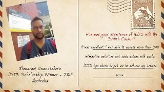 vuclip The British Council IELTS Scholarship 2016/17 winner to Australia – Manaram Gnanasekera