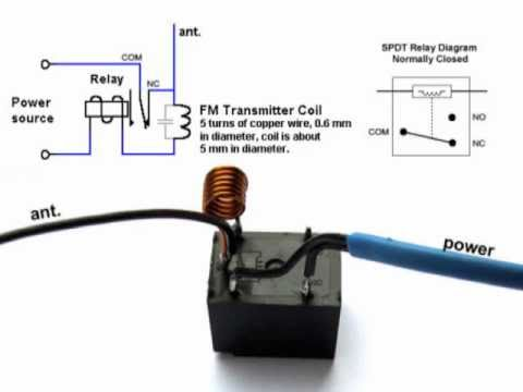 DIY - Home made TV / Radio Jammer with SPDT Relay - Schematic