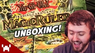 OH THE NOSTALGIA! (Yugioh Magic Ruler 1st Edition Booster Box Unboxing!)